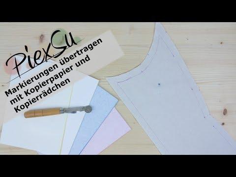 Nähanleitung - Markierungen übertragen mit Kopierpapier | PiexSu