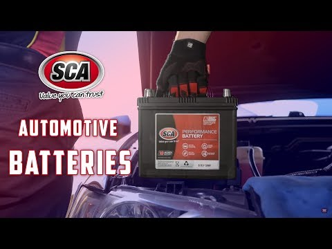 SCA Maintenance Free Automotive Batteries