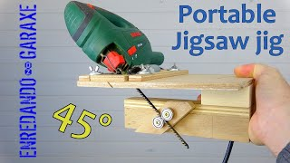 🔥 Amazing JIGSAW JIG for vertical 45 degrees miter cuts