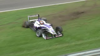 Formula3 - Zandvoort2015 FP1 Li Crashes Amateur
