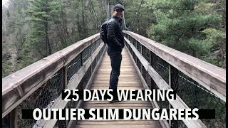 25 Days Wearing Outlier Slim Dungarees | TRAVEL PRODUCT REVIEW