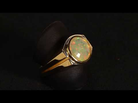 Gentlemans' Opal Ring 3.43 Carat