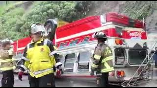 Se accidenta autobús en Las Charcas