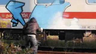 Msae& Fom IC Train Graffiti