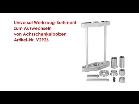 ViGOR Universal Werkzeug-Sortiment zum Auswechseln von Achsschenkelbolzen V2926