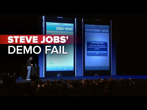 Fallo iOS4 demo Steve Jobs