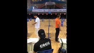 The winner and runner-up PK in the final of CSCC Yibin Tourament