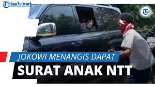 Aksi Anak SMP di Lembata Kejar Mobil Jokowi dan Beri 'Surat Cinta',Aksinya Sempat Ditegur Paspampres