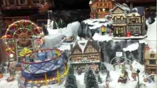 preview picture of video 'Miniture Model Christmas village, Dobbies in Speke, Liverpool'