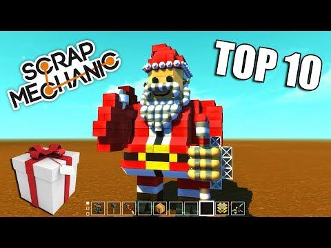 TOP 10 Vánočních Šíleností v Scrap Mechanic