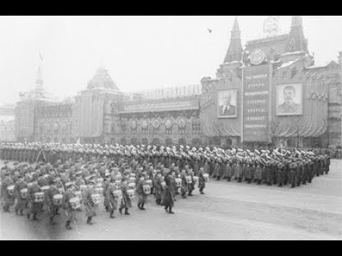 Военный парад 7 ноября 1952 видео