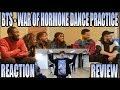 BTS 방탄소년단 - WAR OF HORMONE  DANCE PRACTICE 호르몬 전쟁 REACTION/REVIEW