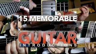 15 Memorable Guitar Introductions