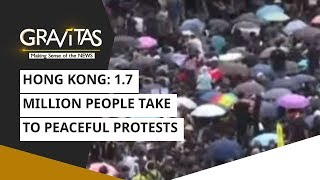 Hong Kong: 1.7 Million People Take To Peaceful Protests