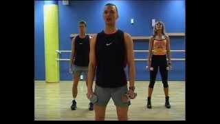 Смотреть онлайн Тренировка силовой аэробики: комплекс упражнений