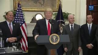 President Trump Makes an Announcement Regarding a Pharmaceutical Glass Packaging Initiative