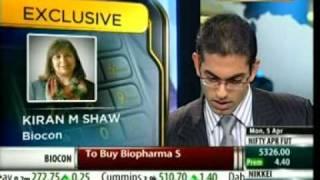 Biocon : Kiran Mazumdar-Shaw Interview with UTV Bloomberg - Q4 FY 09-10 Results