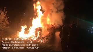 08.04.2019 – Brand i affaldsoplag – Lyngby