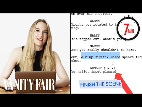 Hollywood Screenwriter Attempts To Write A Scene in 7 Minutes | Vanity Fair