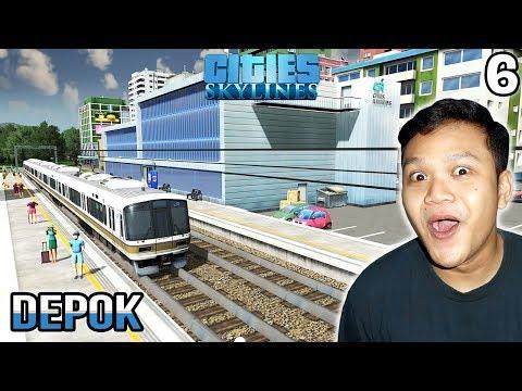 Stasiun Kereta Pertama Di Depok - Cities Skylines Indonesia #6