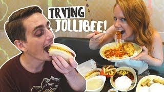 Americans Try JOLLIBEE for the FIRST TIME! (Puerto Princesa, Philippines)