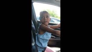 Little Girl Orders Food for Dad From Pretend Drive-Through - 1001228