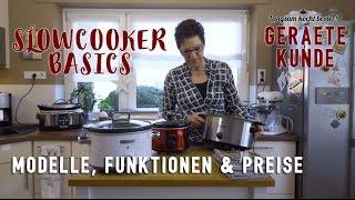 Slowcooker Basics: Crockpot-Gerätekunde, Modelle & Funktionen