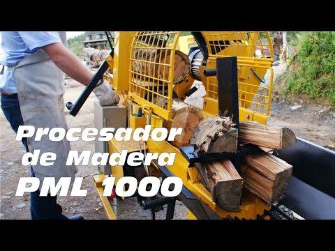 Procesador de Leña PML 1000 - producción de leñas para comercialización
