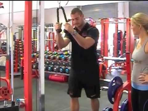 Cable Rope Tricep Extension - In the Gym