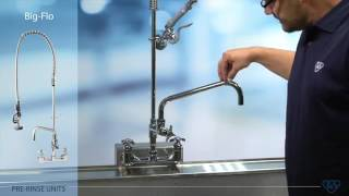 What is a Pre-Rinse Faucet | T&S Brass 5PR-8W12 Wall-Mounted Pre-Rinse Unit