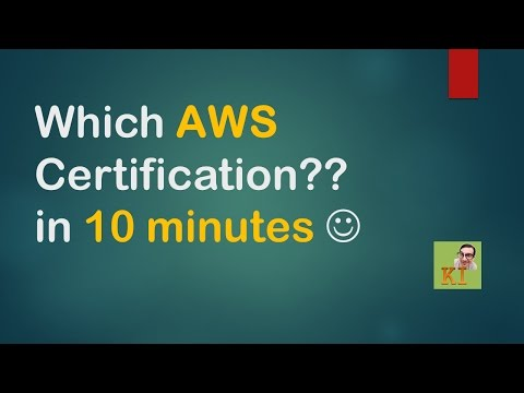 Which AWS Certification?? in 10 Minutes – English