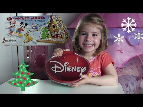 Disney Lebkuchenhaus mit Micky Maus, Minnie und Pluto ❆ Knusperhäuschen