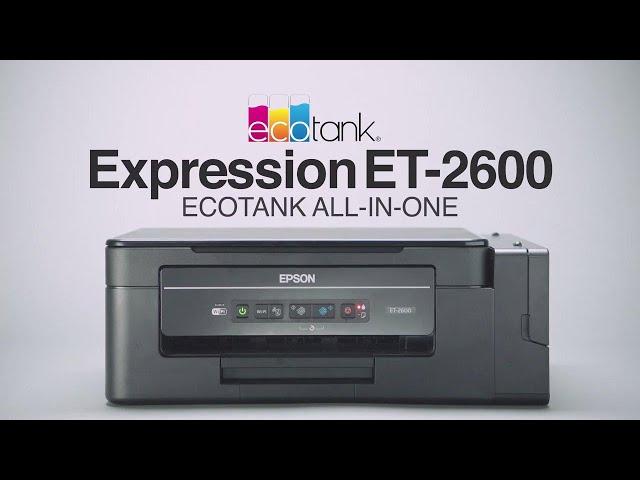 Epson EcoTank ET-2600 A4 Colour Multifunction Inkjet Printer