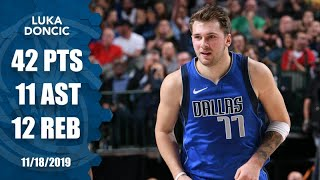 Luka Doncic joins LeBron as the 2nd youngest with a 40-point triple-double | 2019-20 NBA Highlights