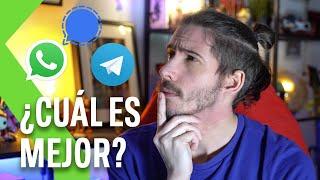 WHATSAPP vs SIGNAL vs TELEGRAM: ¿Cuál CUIDA MÁS tu PRIVACIDAD?