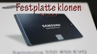 Samsung EVO 850 interne SSD Windows klonen Data Migration