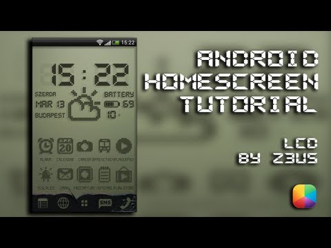 The Retro LCD Android Home Screen