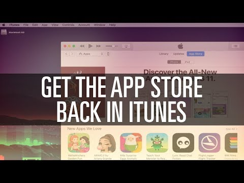 Get the App Store Back in iTunes!