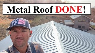 #442 - Shop Build: Metal Roof Is DONE!!! Firewood Cover DONE!!!