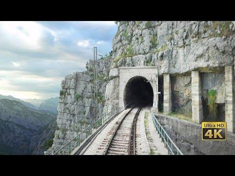 4k cabview bar bijelo polje 102 tunnels 96 bridges 1029m alt