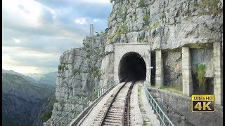 4K CABVIEW Bar - Bijelo Polje -102 tunnels -96 bridges -1029m altitude change from Sea to Mountains