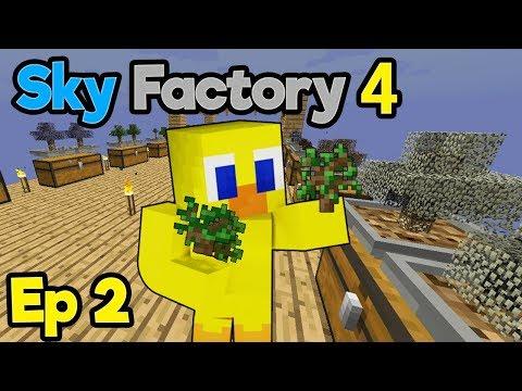 LEAF ME ALONE SAPLINGS (A SHORT CHOCO VIDEO?!)   Minecraft Modpack: Sky Factory 4   Ep. 2