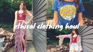 ETHICAL CLOTHING HAUL (try-on) | SOULFLOWER Hippie Clothes
