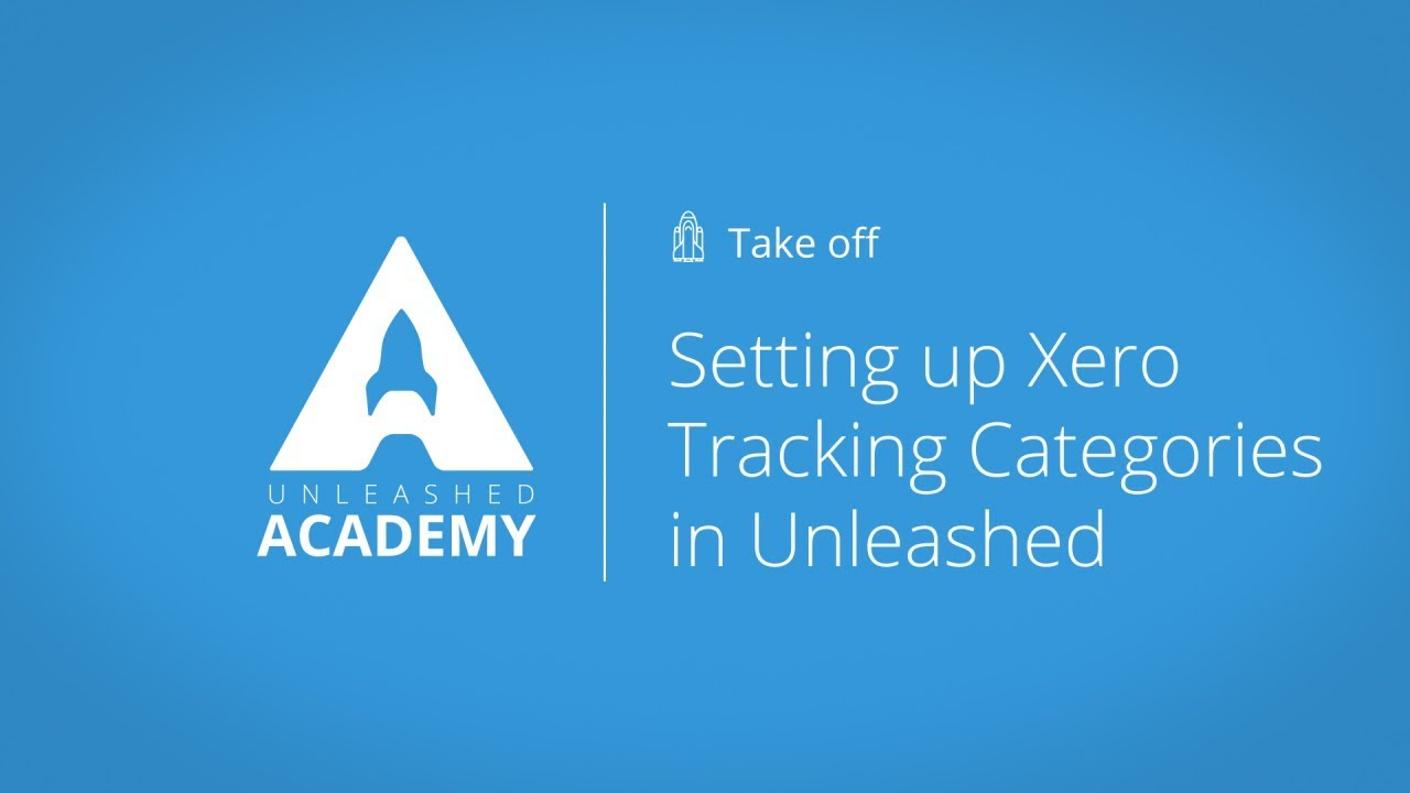 Setting up Xero Tracking Categories in Unleashed YouTube thumbnail image