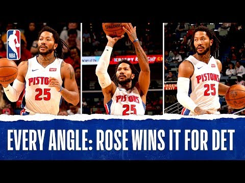 Every Angle: Derrick Rose Hits GAME WINNER!