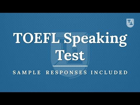 TOEFL Speaking Practice Test, New Version - YouTube