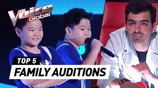 SURPRISING 😱 FAMILY Blind Auditions in The Voice (Kids)