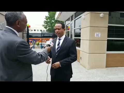 "Ethiopian Ambassador to US, H.E. Ambassador Fitsum Arega VOA Interviews at the occasion of the Passport DC ""Around the World Embassy Tour day""."