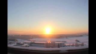 Sunrise to Sunset Fairbanks Alaska Dec 16 2010