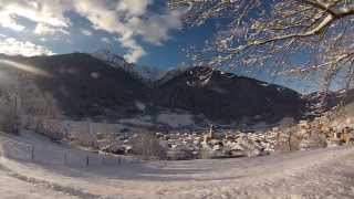 preview picture of video 'Alba su Vezza d'Oglio innevata - Sunrise in Vezza d'Oglio covered with snow!!!'